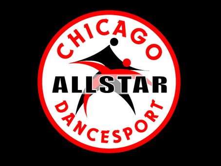 Chicago AllStar Dancesport logo design