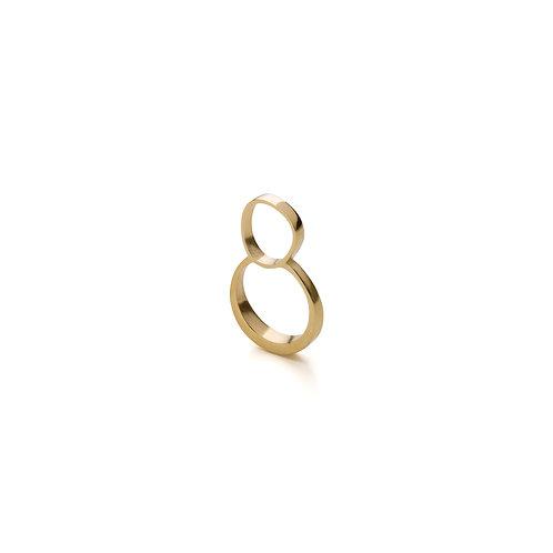 Gold Plated Circle Ring