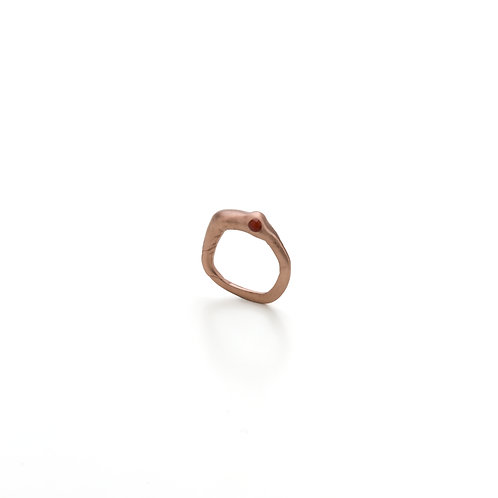 Epoxy Filled Gold Plated Ring (Rose)