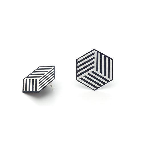 Hexagon Gümüş Küpe
