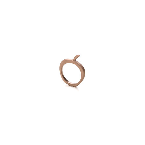 Rose Gold Pleated Apple Ring