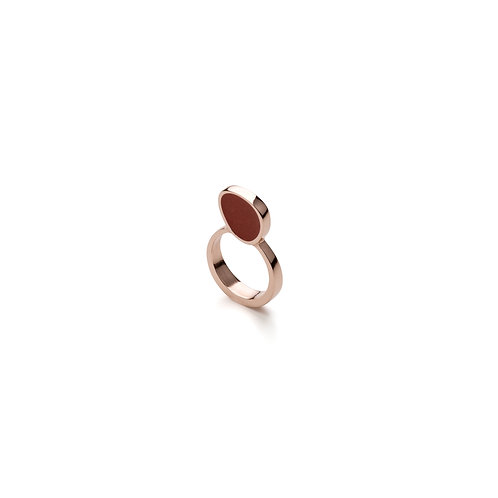 Epoxy Filled Rose Gold Plated Ring