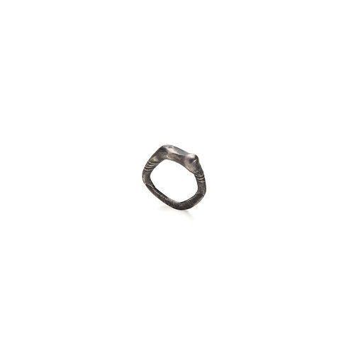 Oxidized Silver Layers Ring
