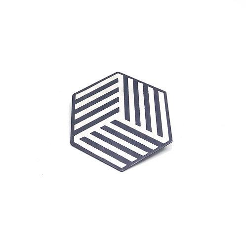 Silver hexagonal pin