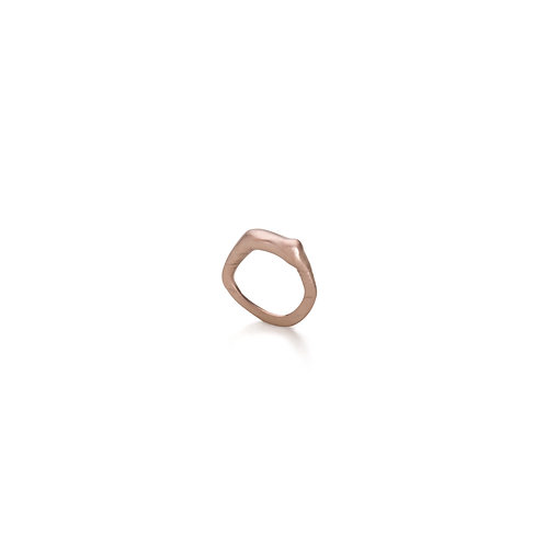 Rose Gold Plated Layers Ring