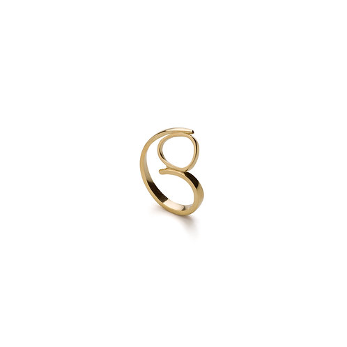 Altın Kaplama Spiral Yüzük (Sarı)