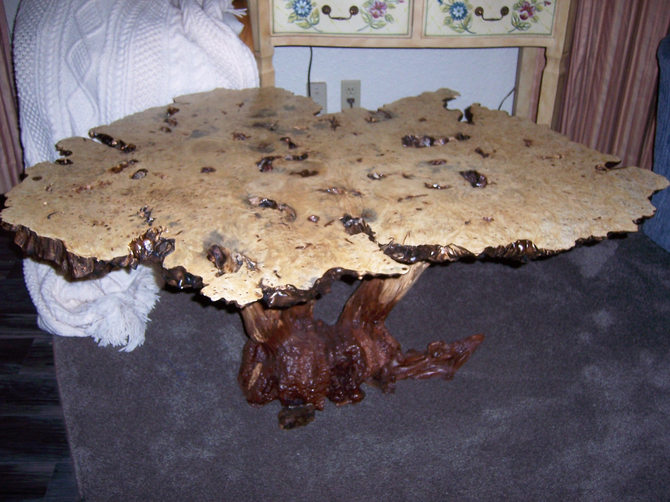 Horse Chestnut Burl Table