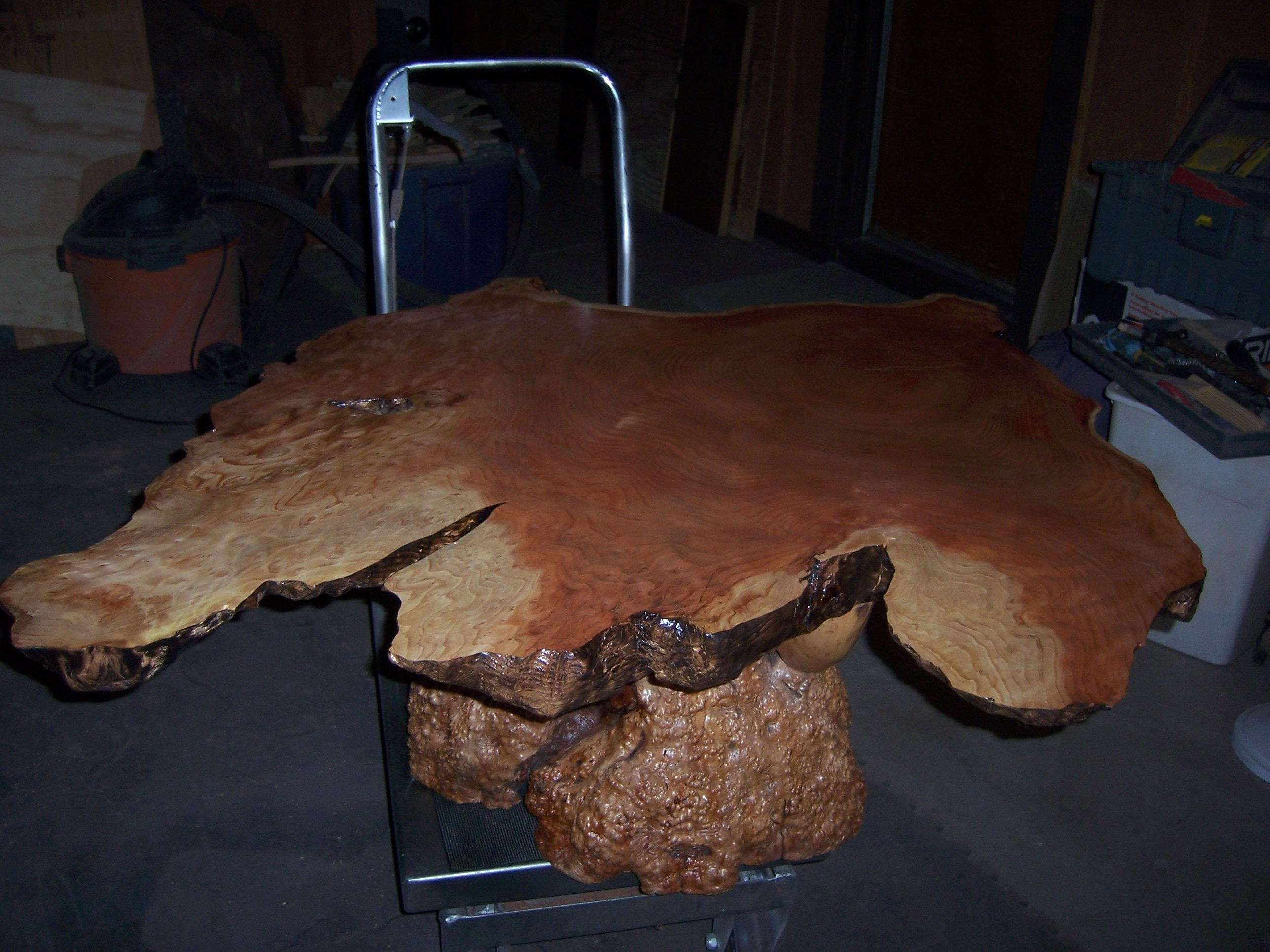Redwood with sap ring