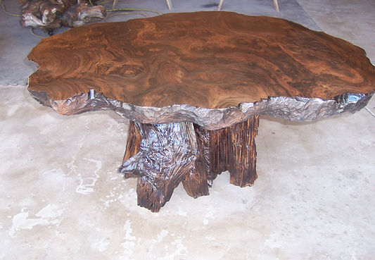 Old growth Redwood coffee table.JPG
