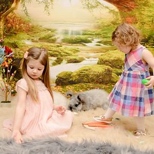 Nora and Emily's Bunny Session