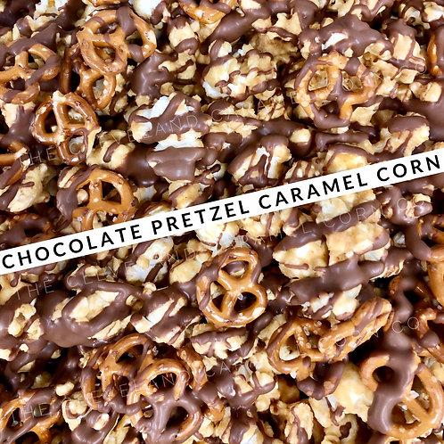 Chocolate Pretzel Caramel Corn