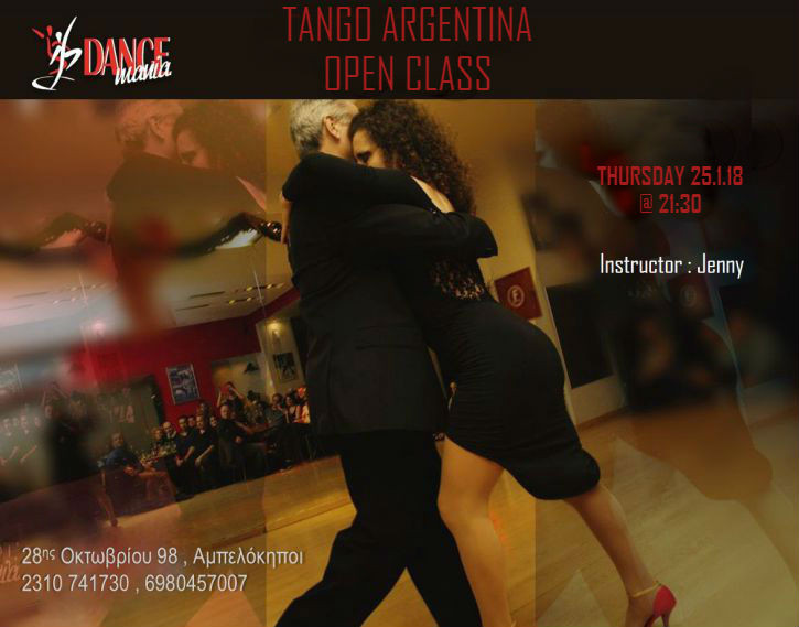 tango argentina workshop -dancemania studio