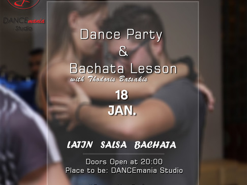 Dance Party & Bachata Lesson | 18 Jan.