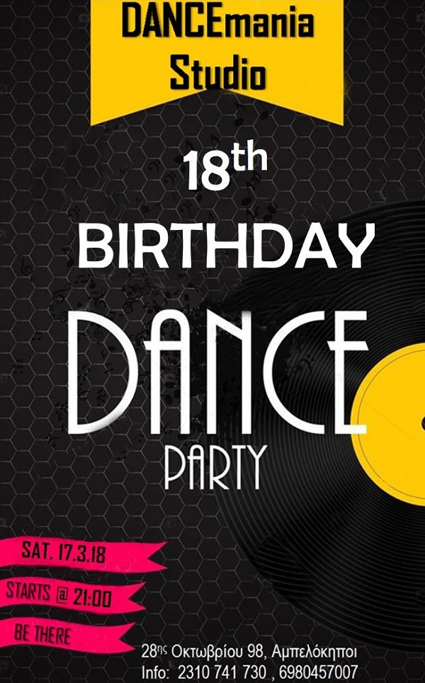 18th birthdayparty | DANCEmania Studio