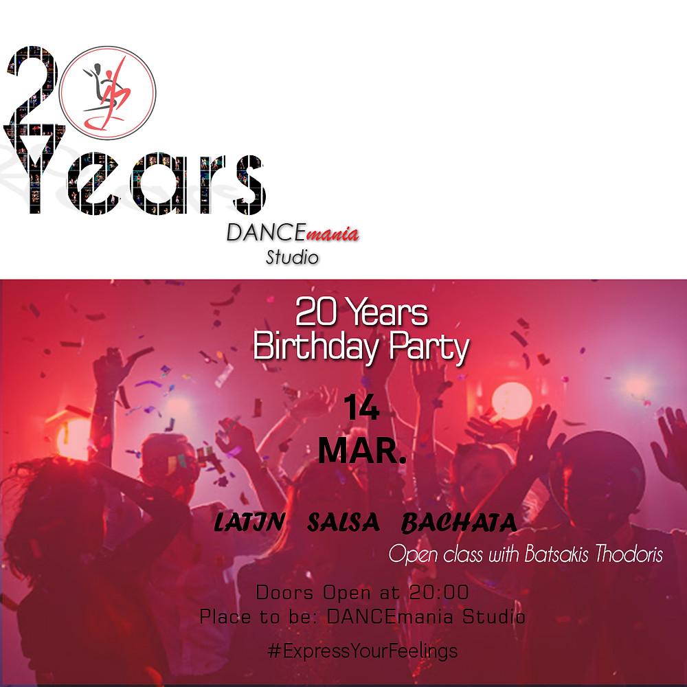 20 Years Birthday Party | DANCEmania Studio