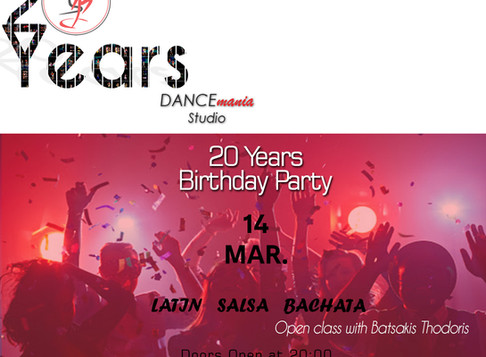 Cancelled - 20 Years Birthday Party | DANCEmania Studio