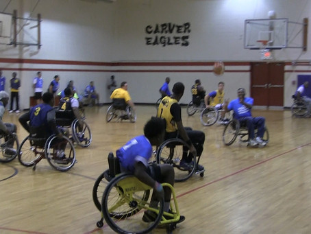 Wheelchair basketball game honors those living with disabilities