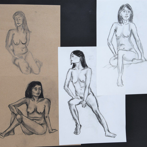 Nude Model Drawing