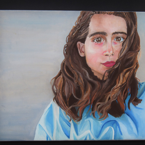 Oil Painting: My sister