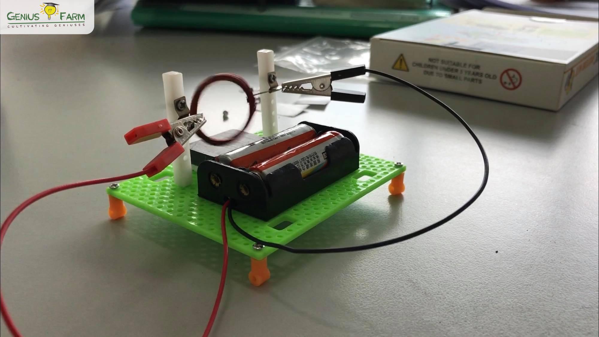 Electromagnet spinner