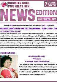 newsletter -  july to september 2019 gsf