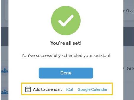 Saiba como integrar as aulas ao vivo em seu calendário pessoal :)