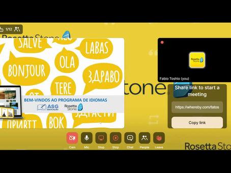Treinamento para Novos Alunos Rosetta Stone