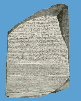 Sobre a pedra original de Rosetta