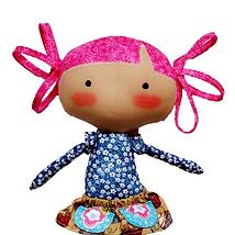 Aprenda a fazer agora a linda boneca de pano Juju da Fluflu - Apostila e moldes passo a passo