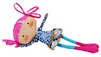 Boneca de pano Juju deitada