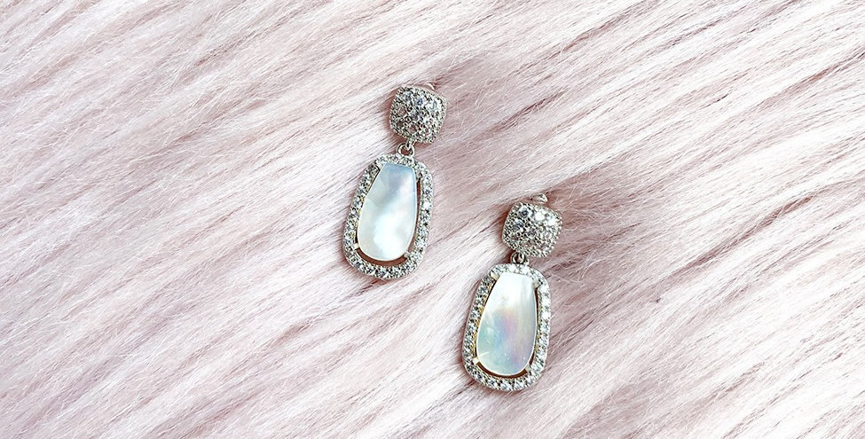 Silver Shell Drop Earrings