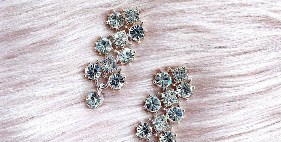 Sparkling Tiered Earrings