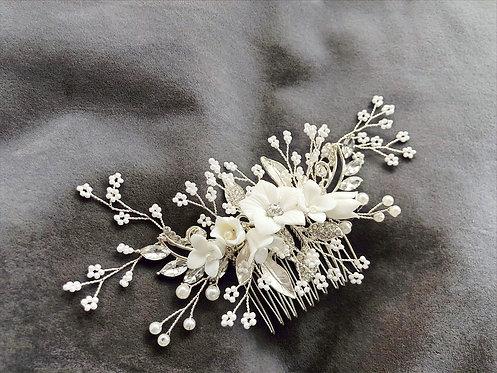 Ceramic Floral Hair Comb