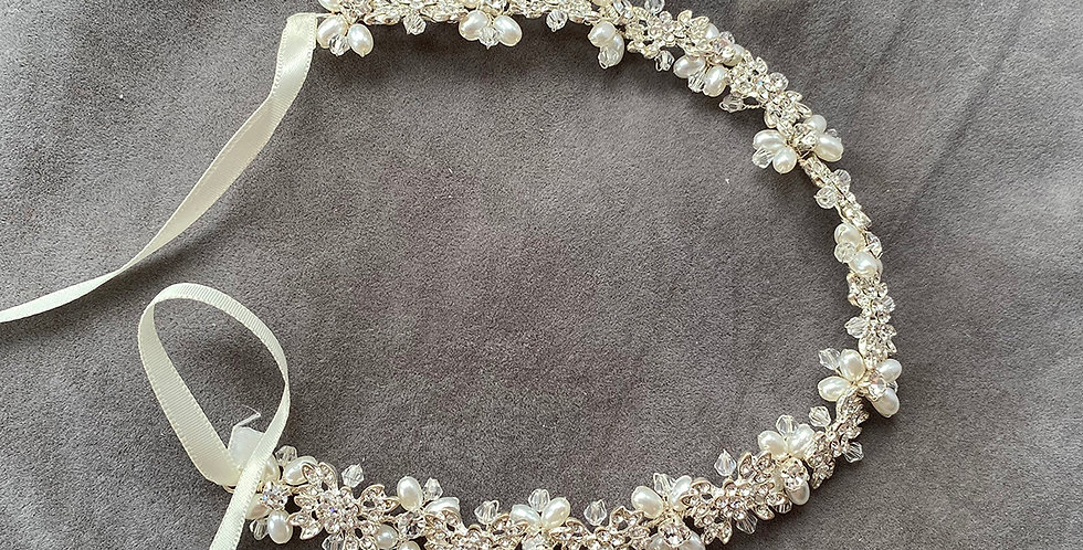 Pearl Zirconia Head Band