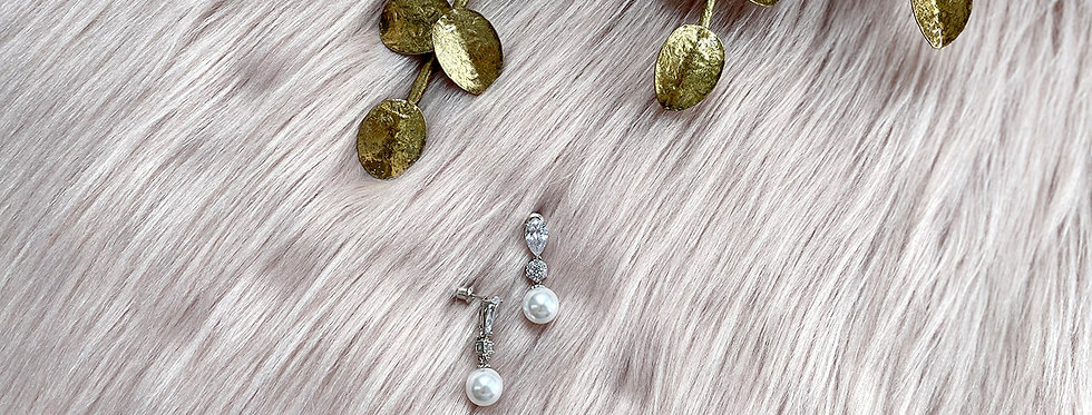 Crystal And Pearl Drop Earring