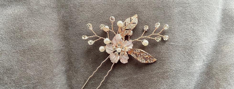 Flower Leaf Hair Pin