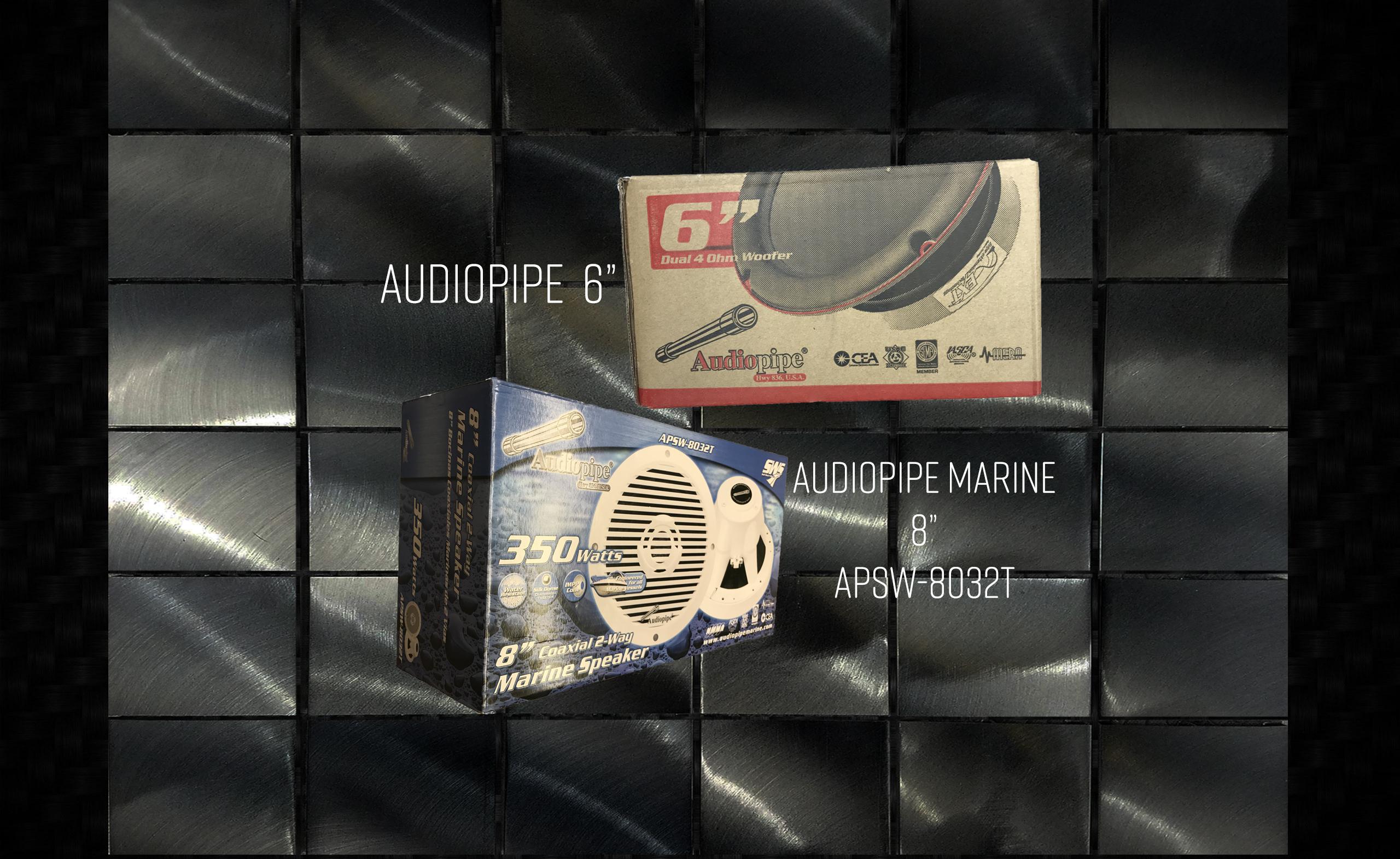 """Audiopipe 6"""" & Audiopipe 8"""" Marine"""