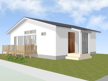 【設計事例】明るいリビング、回れる動線の平屋の家