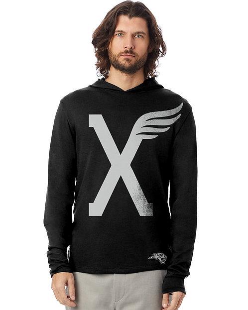 Winged X Tshirt Hoodie