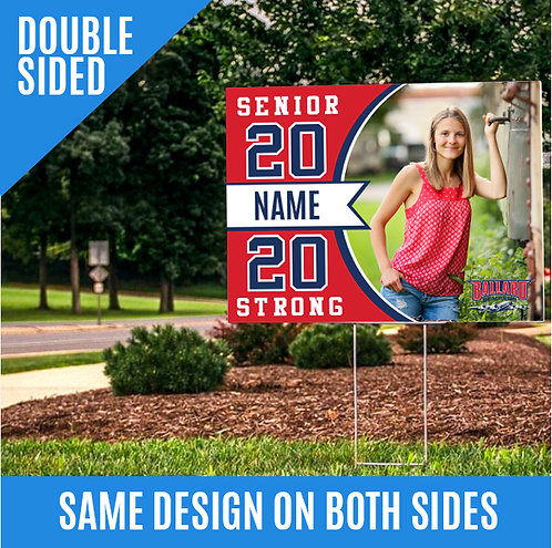 DOUBLE SIDED-Yard Sign with Photo
