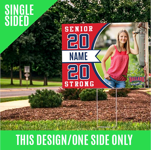 SINGLE SIDED-Yard Sign with Photo