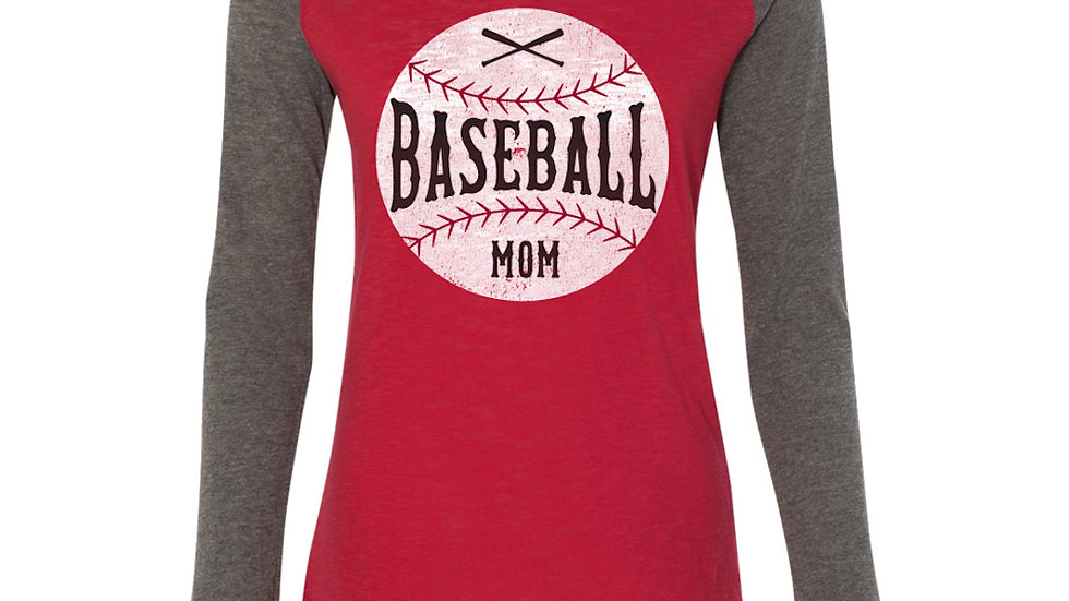 Baseball Mom Elbow Patch Tee