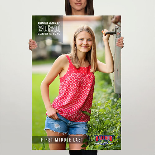 Senior Photo Poster
