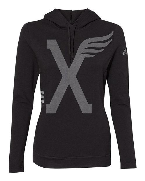 "Adidas - ""X"" Women's Lightweight Hooded Sweatshirt"