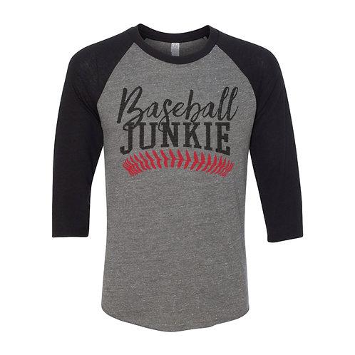 Unisex Baseball Junkie Raglan Tee