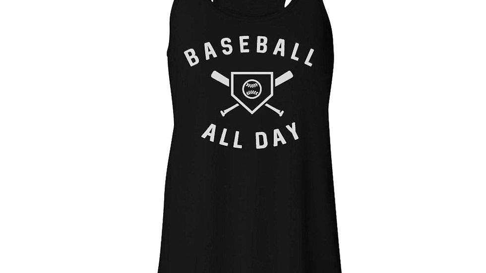 Baseball All Day Flowy Tank