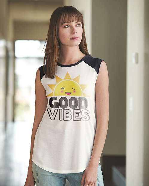 Good Vibes Raglan Tank