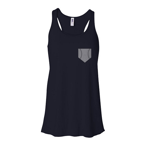 Baseball Pocket Flowy Tank