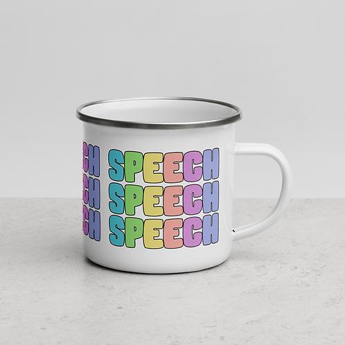 """Bright Speech Collection"" - Enamel Mug"