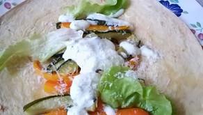 Galette aux légumes rôtis sauce fraîche
